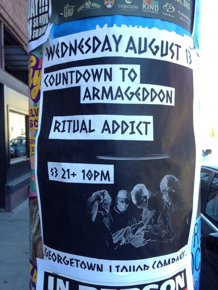 Wednesday Aug 13 at GLC with Ritual Addict